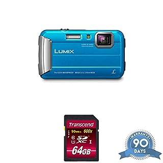 Panasonic Lumix DMC-TS25 Digital Camera (Blue) with Memory Card - (Renewed)