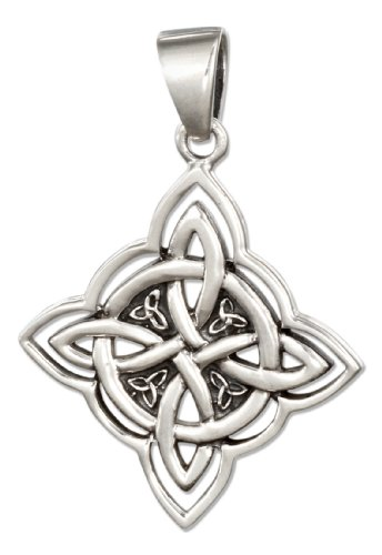 Sterling Silver Four Point Celtic Knot Pendant (Sterling Silver Four Point)