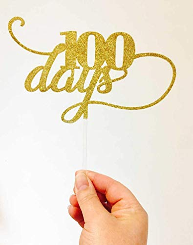 Babies First 100 Days Cake Topper Babys 100 Days Laser Cut Cake Decoration Baby Party Idea Made in Melbourne Bamboo Wood Acrylic -