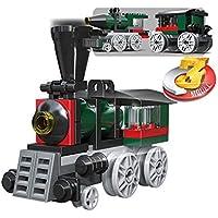 Gooyo DIY Construction Block Bricks Games for Kids Mini Train Building Blocks Toys for Kids Boys -56 Pcs .
