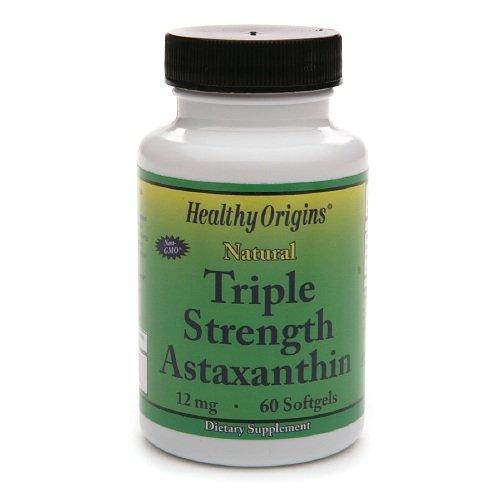 Healthy Origins Astaxanthin 12Mg Trpl Str 60 Sgel by Healthy Origins