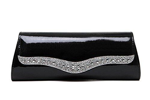 sacs Couleur à en marée à Sac sac main de paquet bandoulière paquet mode Noir paquets à personnalisé main de Rouge dîner sac à main diamant de Zq8w8Xg
