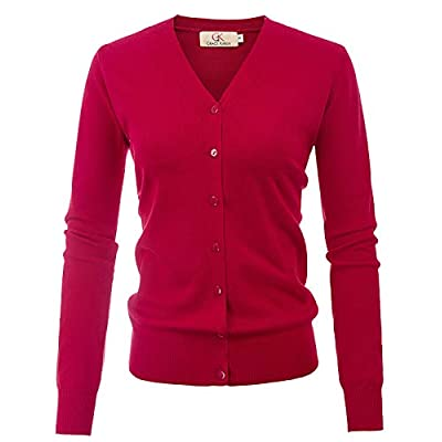 GRACE KARIN Women's Long Sleeve Button Down Classic Sweater Knit Cardigan at Women's Clothing store