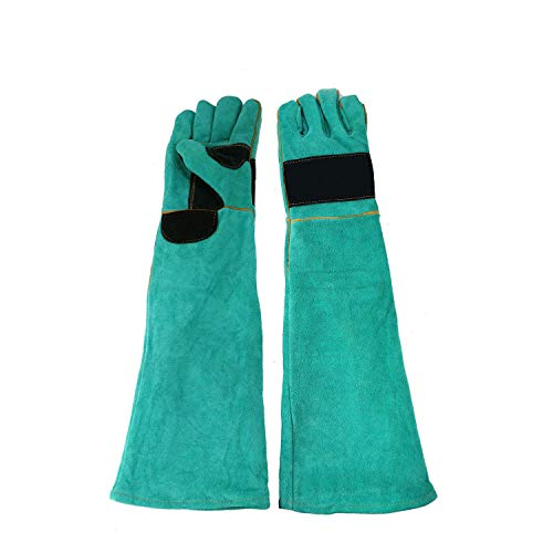 Sporting Style 23.6 IN Animal Handling Anti-bite/scratch Gloves for Dog Cat Bird Snake Parrot Lizard Wild Animals Protection Gloves,Feed Gloves - Animal Gloves