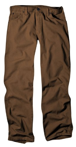 - Dickies Men's Relaxed Fit Duck Jean, Brown, 44x34