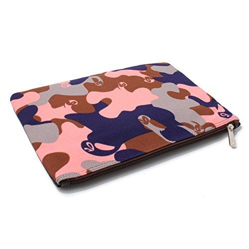 Accessoryo - múltiples bolsa de embrague de la tarde de camuflaje de color de las mujeres