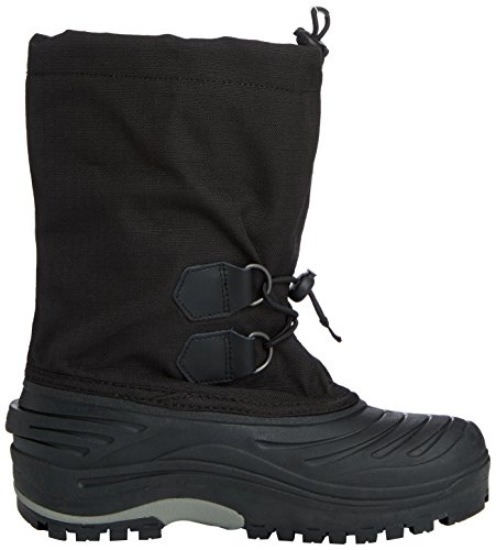 Sorel Unisex Kids' Youth Super Trooper Warm Lined Snow Boots Short Length Black (Black, Light Grey 011)