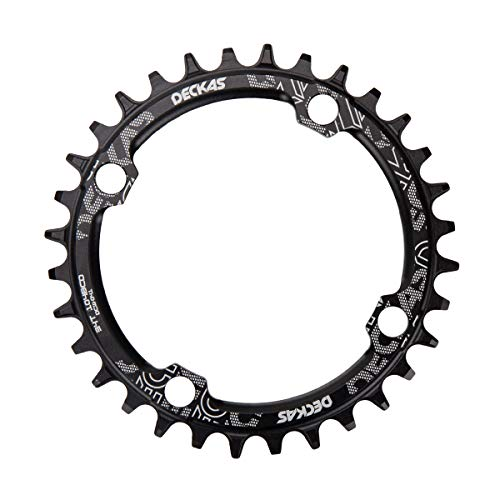 Outamateur 32T 34T 104 BCD Narrow Wide Wide Single Chainring for 9 10 Speed MTB XC Trail e-Bike Fat Bike Mountain Bike Bicycle(34T)