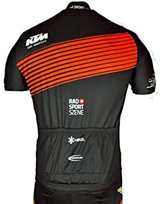 WOLFIRE WF Traje de Ciclismo para Hombre de Equipos. Culotte y Maillot. con 5D Gel Pad. para MTB, Spinning, Bicicleta de Carretera (KTM, S): Amazon.es: Deportes y aire libre