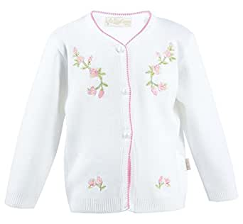 Lilax Baby Girls' Knit Cardigan Sweater (3 Months, Pink)