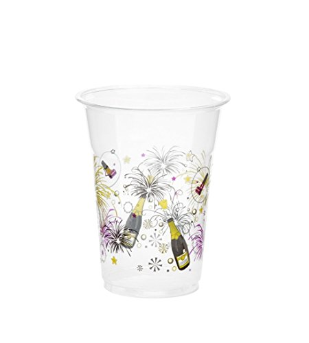 KOVOT 50 Count 16-Ounce Plastic Cups (New Years Celebration)