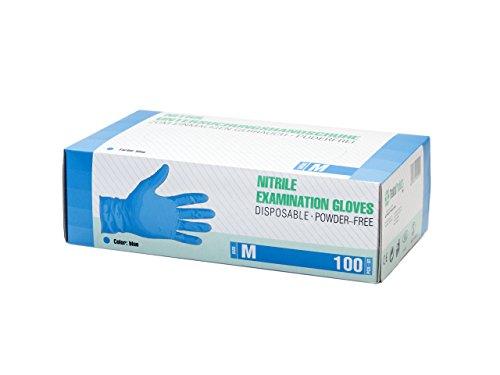 Guantes de nitrilo Caja de 100 piezas (M, azul) sin polvo guantes desechables, sin látex guantes de examen, no estériles… 4