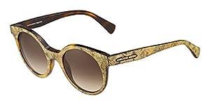 Alexander McQueen Women's AMQ 4275/S Havana Gold/Brown Gradient