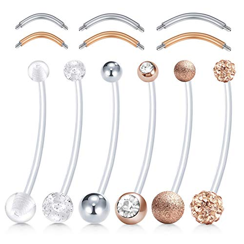 extra long belly button rings - 3