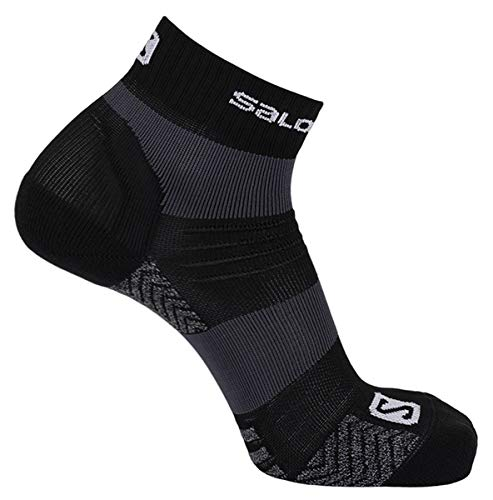 Salomon Quest Low Hiking Sock - Black/Forged Iron Large