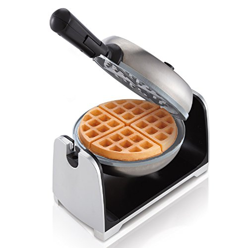 Oster Titanium Infused DuraCeramic Flip Waffle Maker, Stainless Steel (CKSTWFBF22-TECO) by Oster
