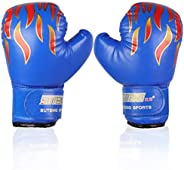 Kids Boxing Gloves,Youth Sparring Punching Training Gloves for Age 3-12 Years (Color : Blue)