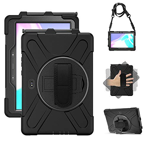 Samsung Galaxy Tab Active PRO 10.1 Case, Heavy Duty Rugged Shockproof Drop Protection Case with 360 Stand, Handle Hand…