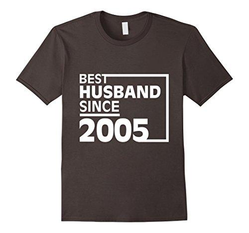 Mens Mens Anniversary Gift 12 Years Wedding Best HusbandSince2005 Medium Asphalt