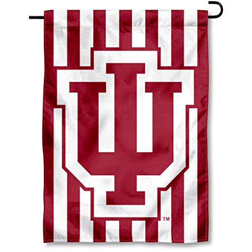 Indiana Hoosiers Candy Stripe Garden Flag and Yard Banner -