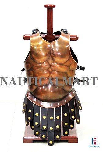 l Greek Muscle Armor Cuirass Body Armor Halloween Costume - LARP ()