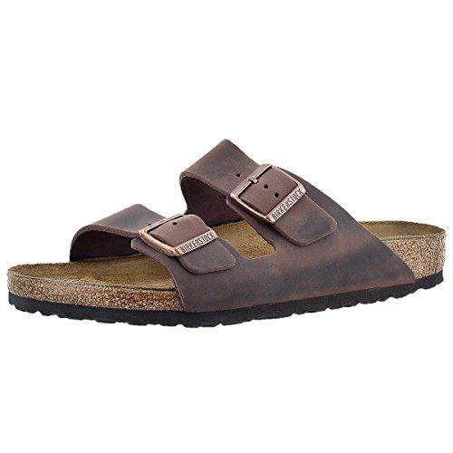 Birkenstock Men's Arizona SF 2-Strap Soft Cork Footbed Sandal Brown 45 M ()