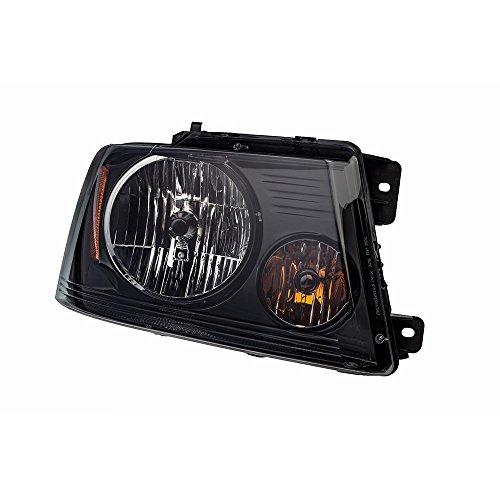(2004-2008 Ford F-150 Harley Davidson RH Passenger Side Black Headlight OEM NEW)