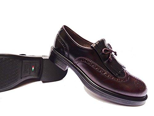 Nero Giardini 19371 scarpe da donna mocassini in pelle col. Bordò/Nero, num. 38