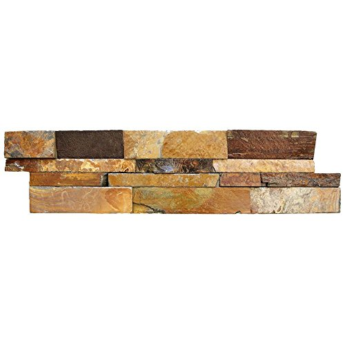 (MS International Inc California Gold Ledger Panel 6 in. x 24 in. Natural Slate Wall Tile (5 cases/20 sq. ft. /)