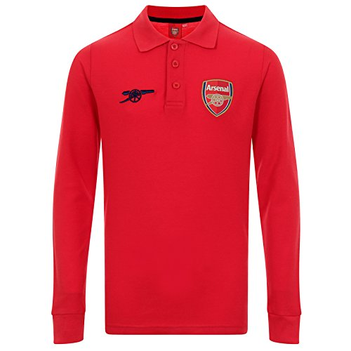 Arsenal FC Official Soccer Gift Boys Long Sleeve Polo Shirt Red 6-7 Years