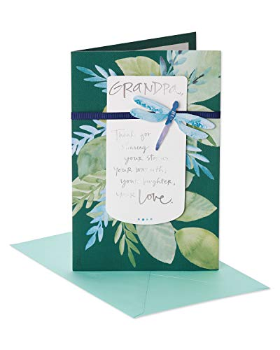 American Greetings Best Grandpa Father's Day Greeting Card with Ribbon and Foil