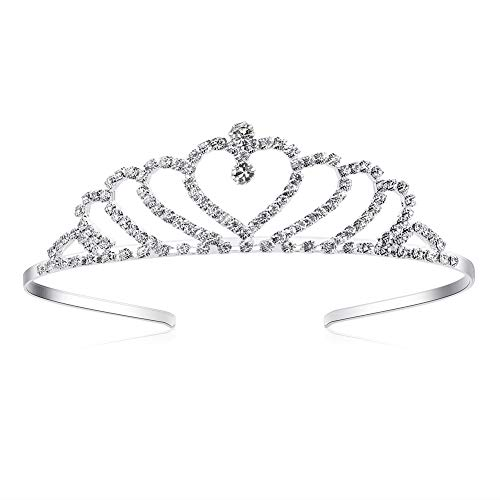 Lovely Shop Girls Heart Rhinestone Tiara Crown for Wedding Prom Birthday Prinecess Party]()
