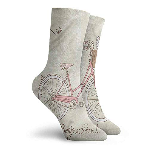 Crew Socks Dog Postcard from Paris Bicycle Colorful Patterned Dress Socks