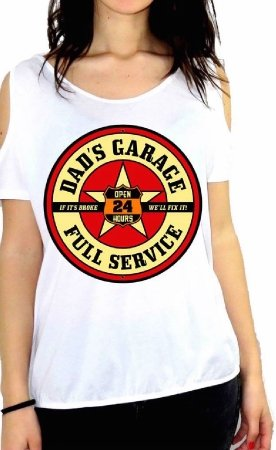 JOHNNY DEERS SHIRT TOP CAMISETA AMERICAN VINTAGE IMAGES PLANE OIL CAR ROAD GARAGE 91563 GGG57 GREY