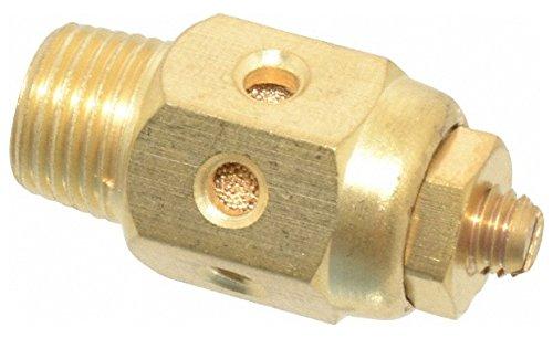 1/8 Male NPT, 1/2'' Hex, 1-5/16'' OAL, Speed Control Muffler 300 Max psi, 20 CFM, Brass by Jupiter Pneumatics