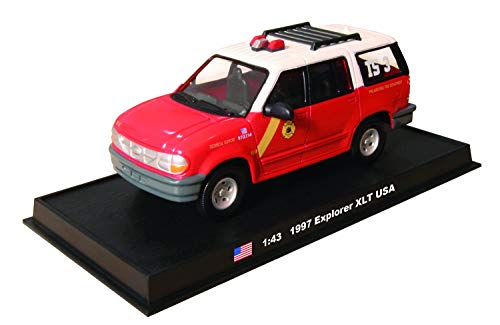 Amercom 1997 Ford Explorer XLT PFD Philadelphia Fire Department Chief TS-3 1:43 Scale Diecast with Acrylic Display Case