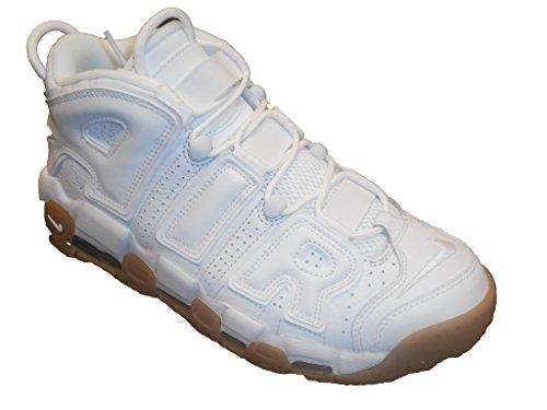 Nike Men's Air More Uptempo, WHITE/WHITE-BAMBOO-GUM LIGHT BROWN