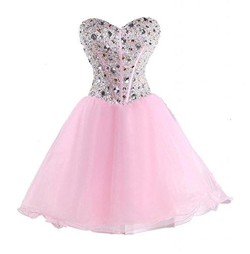 CoutureBridal - Vestido - corte imperio - para mujer rosa 60