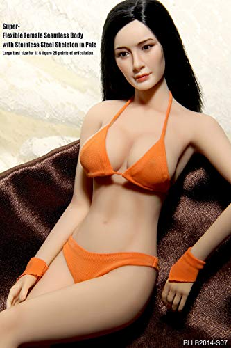 Anyota Female Seamless Body and Head Set PLLB2014-S07 1/6 Scale Action Figures Dolls Full Silicone Super Flexible