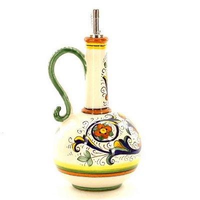 RICCO DERUTA: Olive Oil Bottle Deruta [#1028-RIC]