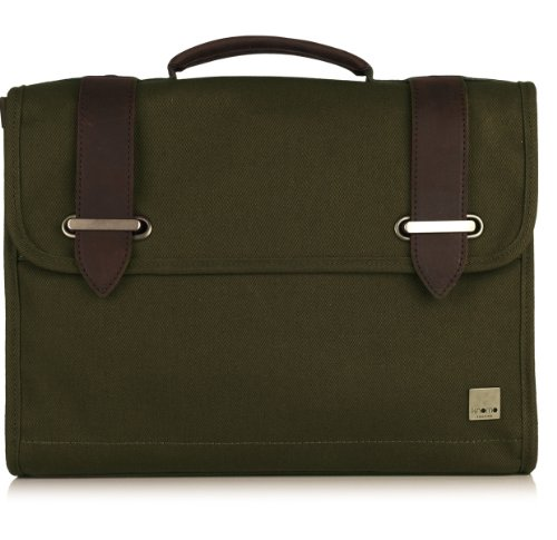 Knomo Balham 57-102 Briefcase,Olive Green,One Size by Knomo