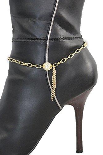 TFJ Women Jewelry Boot Bracelet Metal Chain Fringes Shoe Vintage Bead Charm (We Will Rock You Bohemians Costume)