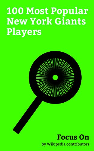 Focus On: 100 Most Popular New York Giants Players: Odell Beckham Jr., Rashad Jennings, Eli Manning, Chris Hogan (American football), Michael Strahan, ... Victor Cruz (American football), etc.