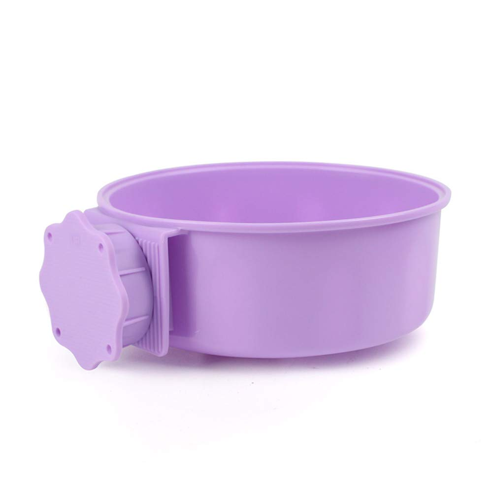 Purple Pet Supplies Simple Wind Washable Removable pet Hanging Food Hundred fold PP Dog Food Bowl Large Dog Food Cats Rabbits Birds Small Goods for Pets