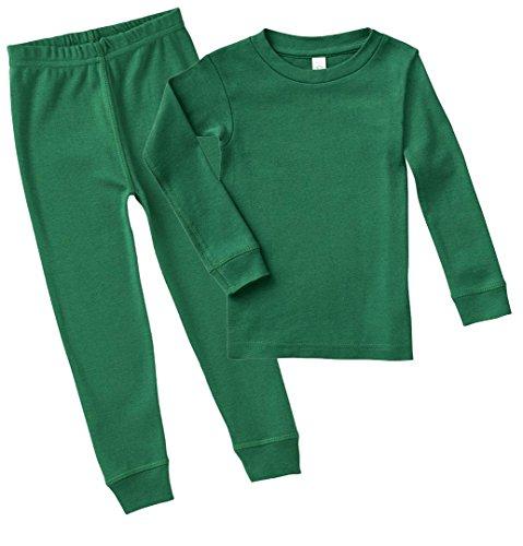 KAMAL OHAVA Infant Soft Cotton Pajama Set, Kelly, 12M by KAMAL OHAVA