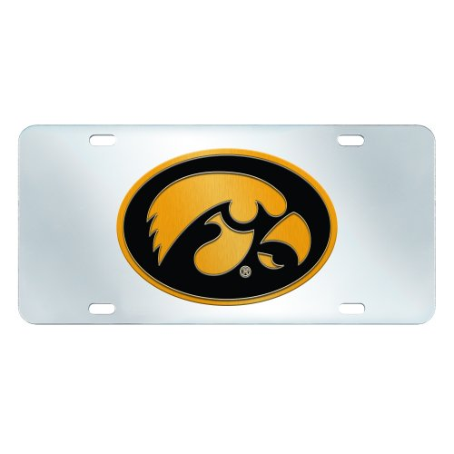 Fanmats NCAA University of Iowa Hawkeyes Plastic License Plate (Inlaid)