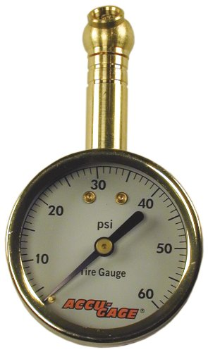 Tire Pressure Gauge: 60 PSI - Accugage 60XGA Tire Gauge