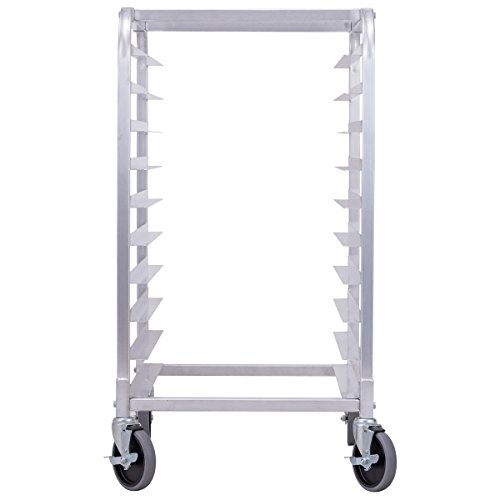 Giantex 10 Tier Aluminum Bakery Rack Home Commercial Kitchen Bun Pan Sheet Rack Mobile Sheet Pan Racking Trolley Storage Cooling Rack w/Lockable Casters by Giantex (Image #5)