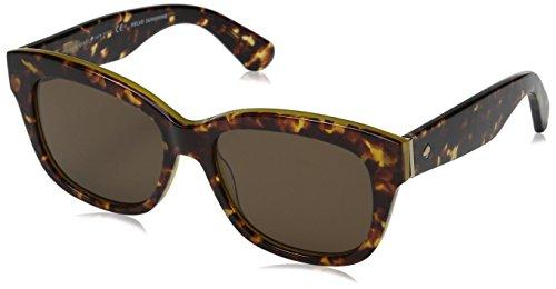 Yellow Havana Sunglasses (Kate Spade Women's Lorelle Rectangular Sunglasses, Havana Yellow/Brown, 53)