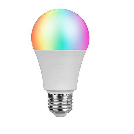 Bombilla WIFI, LED Bombilla Inteligente Soporte Alexa & Google Home Hue Control Light por Smartphone
